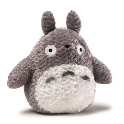 Fluffy Big Totoro Grey 9""