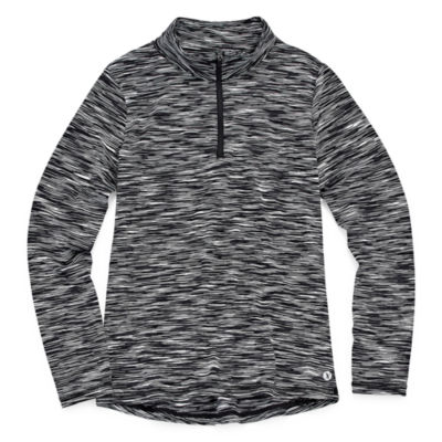 Xersion Spacedye Quarter-Zip Pullover Top - Girls' 7-16 and Plus