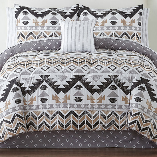 Home Expressions Brinley Complete Bedding Set With Sheets Jcpenney