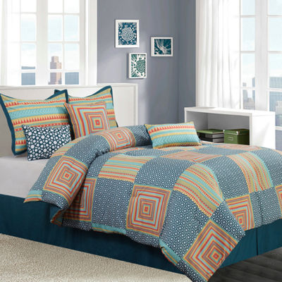 Options Amias 7-pc. Reversible Comforter Set