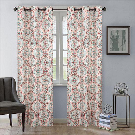 Aldrich 2pk Grommet-Top Curtain Panel
