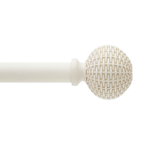 JCPenney Home Woven Ball 1 IN Curtain Rod