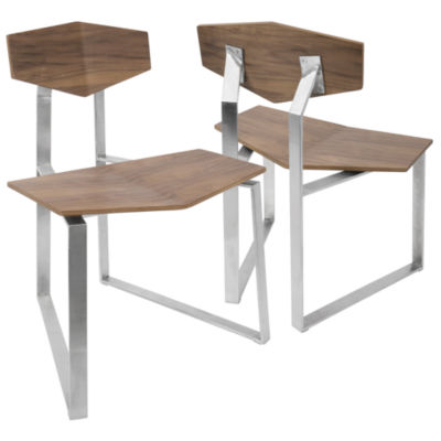 Flight Modern Armless Side Chairs - Set of 2