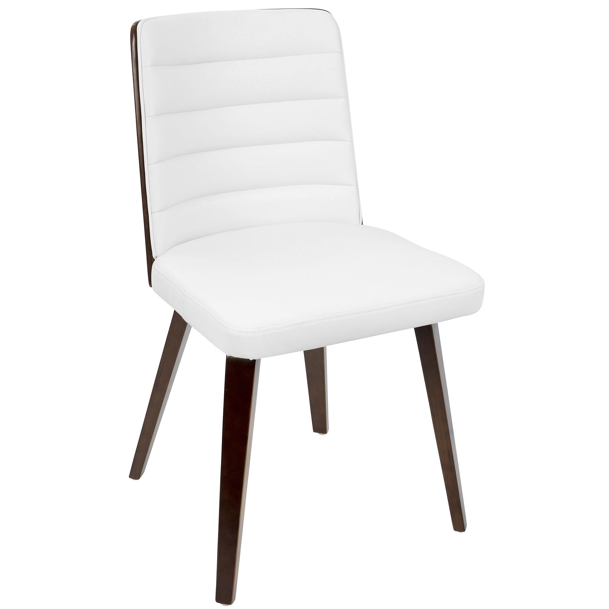 Francesca Retro Faux-Leather Side Chair