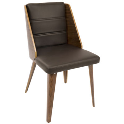 Galanti Faux-Leather Side Chairs - Set of 2