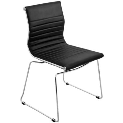 Master Faux-Leather Stackable Side Chairs - Set of2