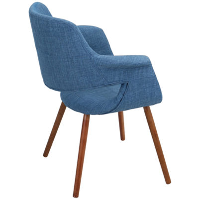 Vintage Flair Retro Upholstered Armchair