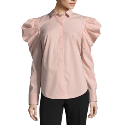 Worthington Volume Sleeve Button Front Shirt