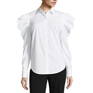Victorian Blouses, Tops, Shirts, Vests 1890s Style Blouse at JCP $36.00 AT vintagedancer.com