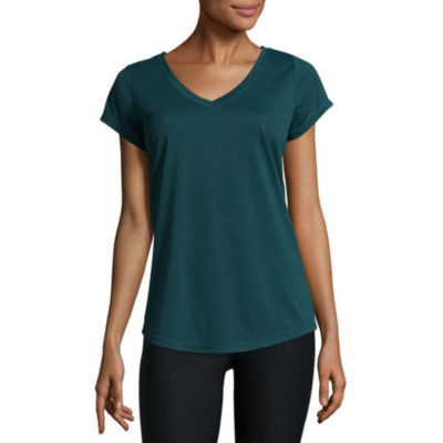 Xersion short sleeve v neck t shirt womens jcpenney for Womens tall v neck t shirts