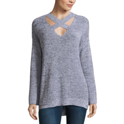 a.n.a Long Sleeve Cross Front Sweater