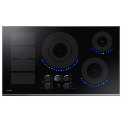 "Samsung 36"" Smart Wi-Fi Enabled Induction Cooktop with 5 Elements and Virtual Flame™"