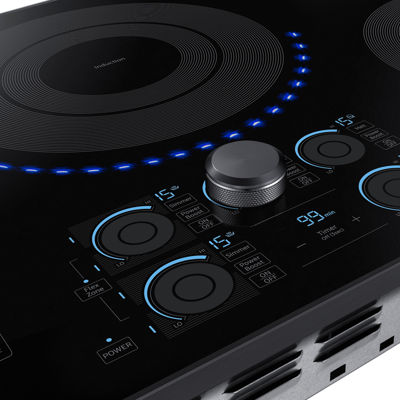 "Samsung 36"" Induction Cooktop with 5 Elements and Virtual Flame™"