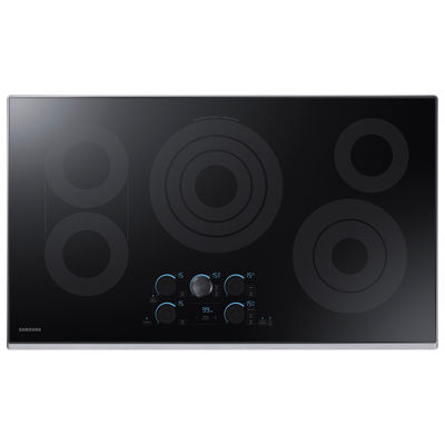"Samsung 36"" Ceramic Electric Cooktop with 5 Elements, including Rapid Boil™ and Wi-Fi"