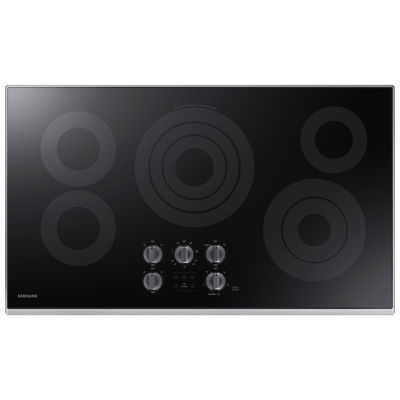 "Samsung 36"" Ceramic Electric Cooktop with 5 Elements and Rapid Boil™"
