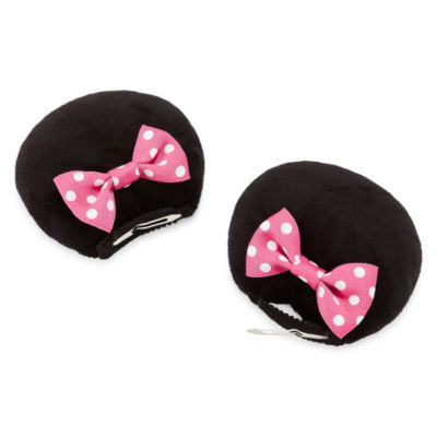 Disney Minnie Mouse Plush Ear Hair Clips