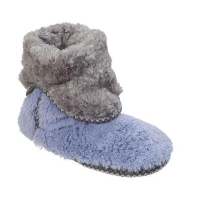 Dearfoams Womens Memory Foam Bootie Slippers