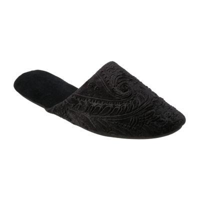 Dearfoams Velour Scuff Slip-On Slippers