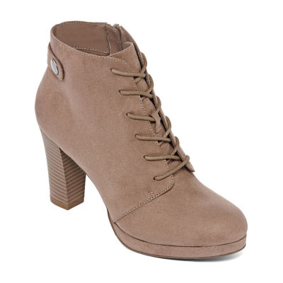 a.n.a Womens Fenwick Booties Block Heel Zip
