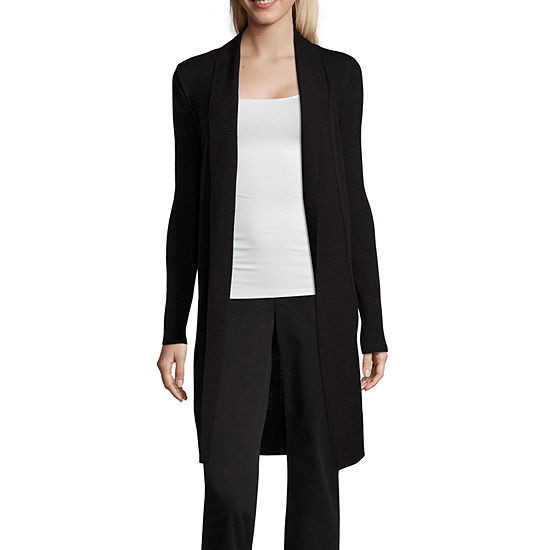 Worthington Long Sleeve Cardigan - Tall
