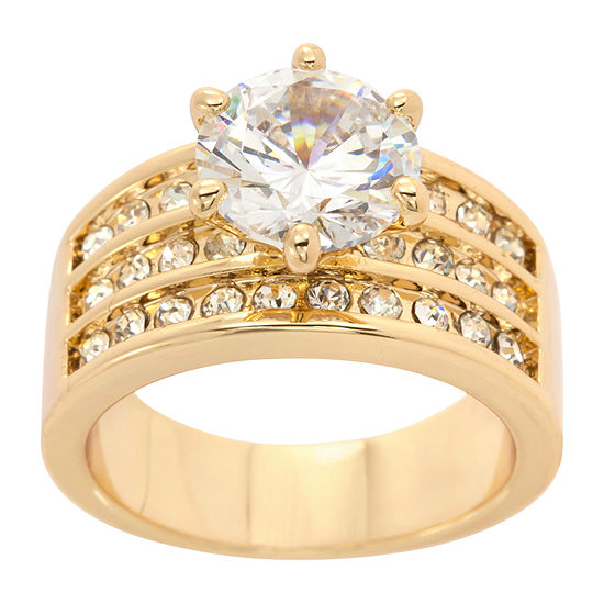 Sparkle Allure Womens 5 CT. T.W. 14K Gold Over Brass Engagement Ring
