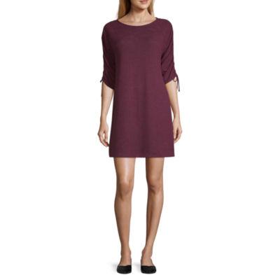 a.n.a Shirred Sleeve Dress