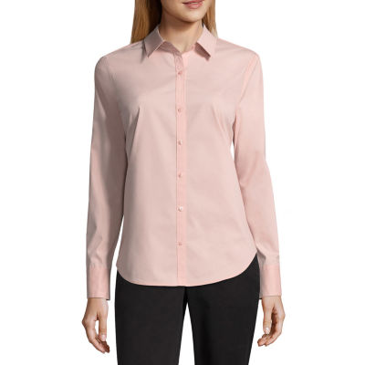 Worthington Long Sleeve Essential Shirt - Tall