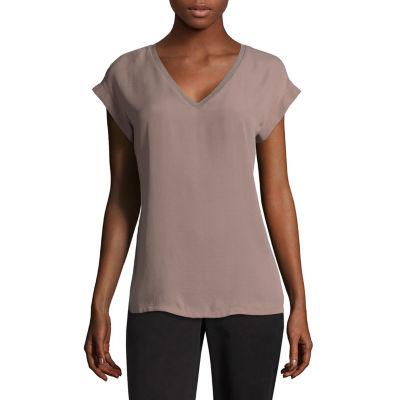 Worthington Short Sleeve V-neck Tee - Tall