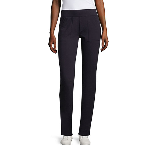 St. John's Bay Active Womens Mid Rise Slim Pant-Tall