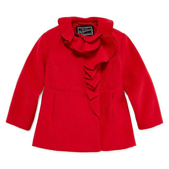 S Rothschild RuffleTrim Coat - Toddler Girls