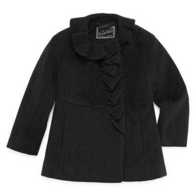 S Rothschild Ruffle Trim Coat - Toddler Girls