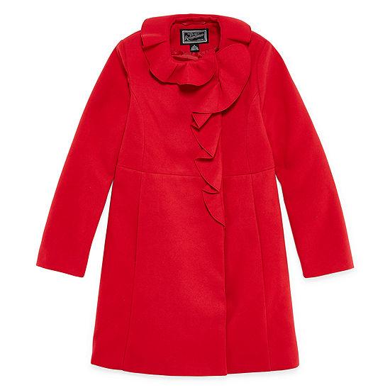 S Rothschild Ruffle Trim Coat - Girls