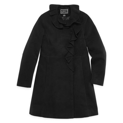 S Rothschild Ruffle Trim Coat - Girls