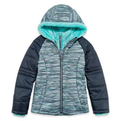 Free Country - Girls Hooded Heavyweight Puffer Jacket-Preschool
