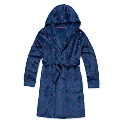 Jammers Kids Girls Microfleece Robe Long Sleeve Mid Length