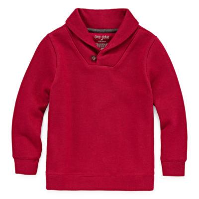 Okie Dokie Shawl Collar Pullover-Toddler Boys