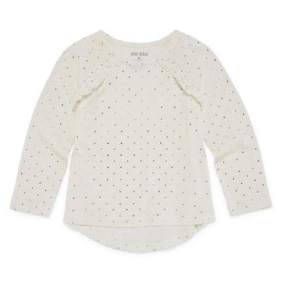 Okie Dokie Long Sleeve  T-Shirt-Toddler Girls