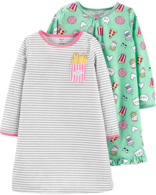 Carter's 3/4 Sleeve Nightgown-Toddler Girls