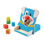 Melissa & Doug First Play Wooden Spin and Feed Shape Sorter