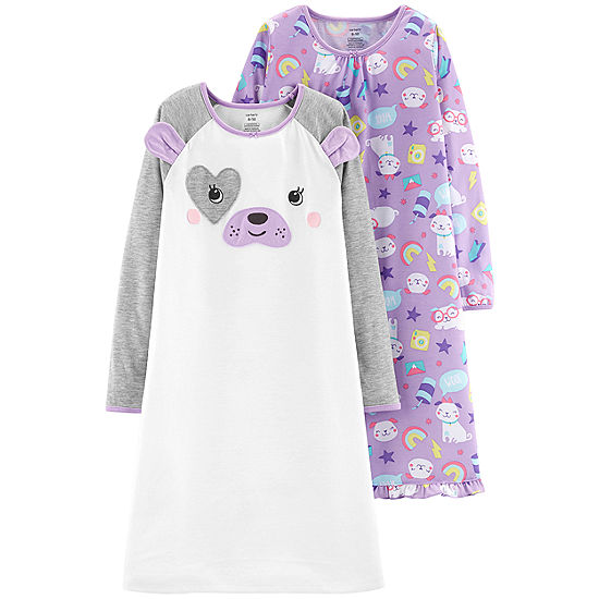 Carter\'s 2-Pk. Dog Sleep Gowns - Preschool Girl - JCPenney