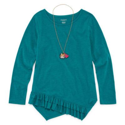 Arizona Long Sleeve Ruffle Hem Tunic - Girls' 4-16 & Plus