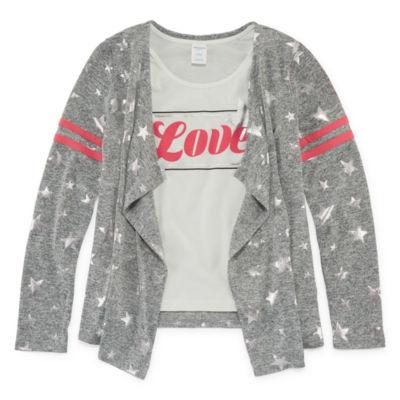 Arizona Long Sleeve Print Cozy with Tank Top and Keychain - Girls' 4-16 & Plus
