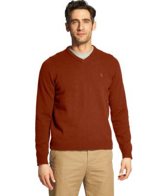 IZOD V Neck Long Sleeve Pullover Sweater