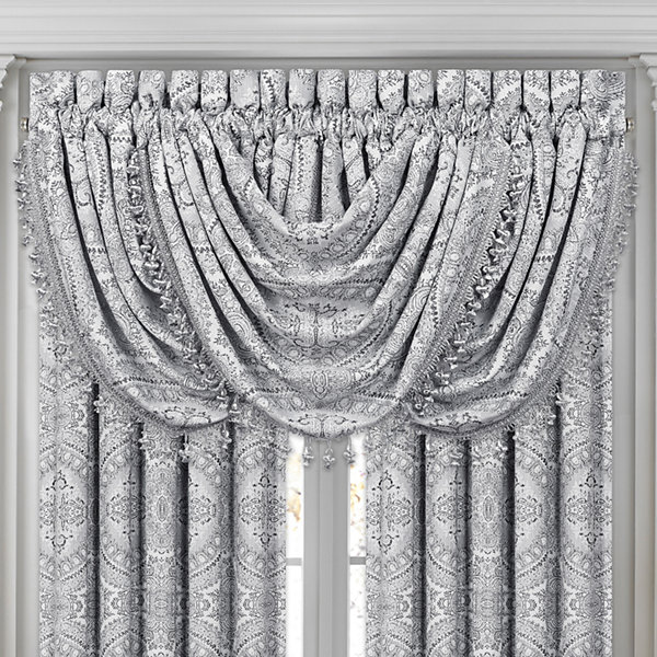 Queen Street Caprice Rod-Pocket Waterfall Valance