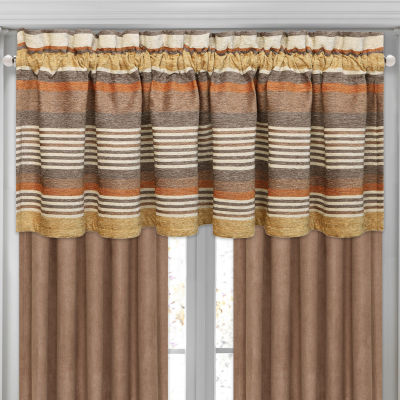 Queen Street Montclair Rod-Pocket Waterfall Valance