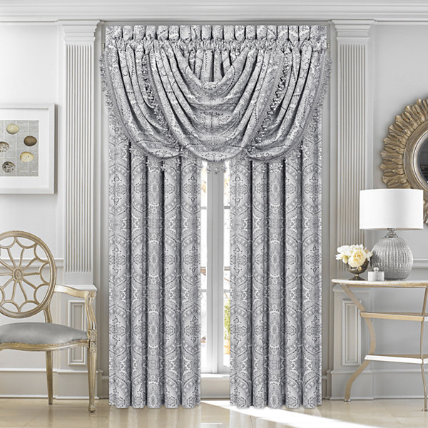 Queen Street Caprice 2-Pair Rod-Pocket Curtain Panels