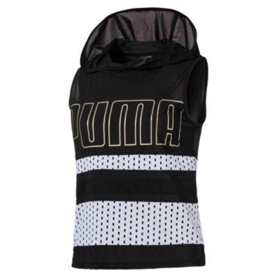 Puma Sleeveless Knit Logo Hoodie
