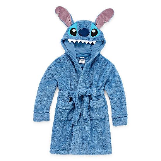 Disney Boys Plush Robe Lilo & Stitch Long Sleeve Mid Length