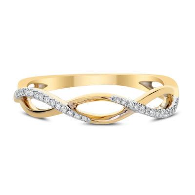 Womens 1/10 CT. T.W. White Diamond 14K Gold Band