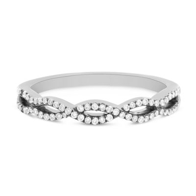 Womens 1/5 CT. T.W. White Diamond 14K White Gold Band
